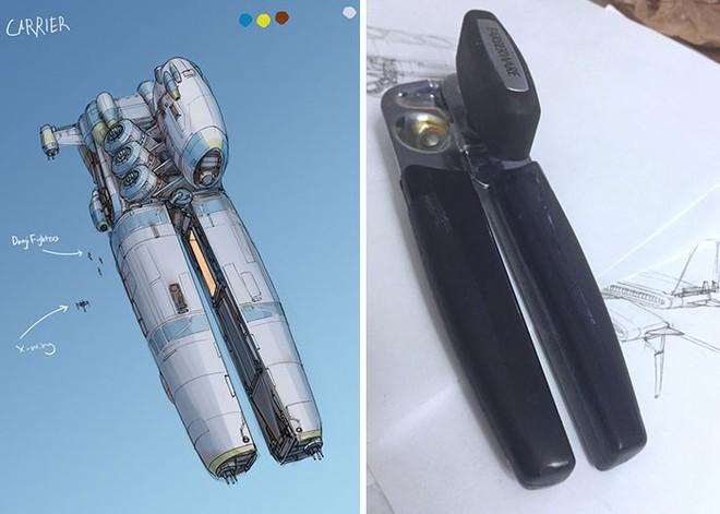 Nghệ sĩ này biến những đồ vật bình thường nhất thành tàu vũ trụ với thiết kế đậm chất viễn tưởng - Ảnh 11.