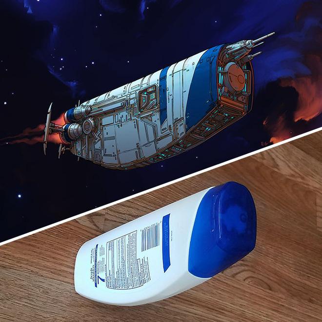 Nghệ sĩ này biến những đồ vật bình thường nhất thành tàu vũ trụ với thiết kế đậm chất viễn tưởng - Ảnh 13.