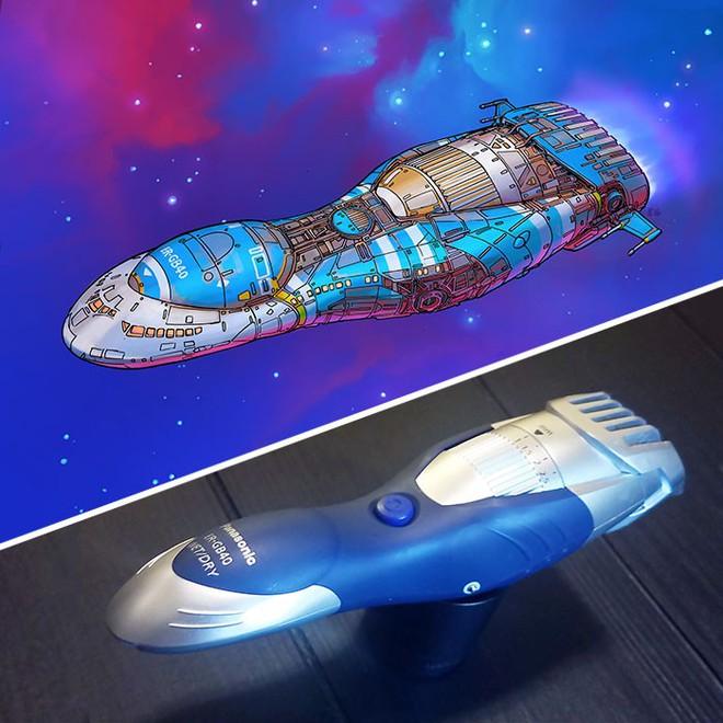 Nghệ sĩ này biến những đồ vật bình thường nhất thành tàu vũ trụ với thiết kế đậm chất viễn tưởng - Ảnh 15.
