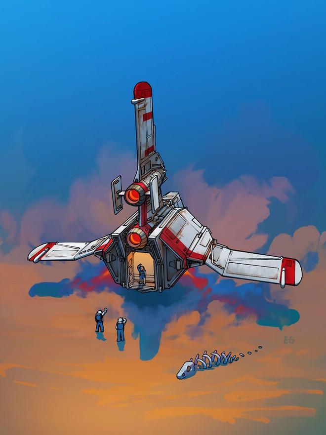 Nghệ sĩ này biến những đồ vật bình thường nhất thành tàu vũ trụ với thiết kế đậm chất viễn tưởng - Ảnh 18.