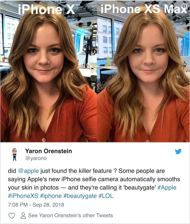Bản cập nhật iOS 12.1 đã loại bỏ bộ lọc cà mịn da khi chụp ảnh selfie trên iPhone mới - Ảnh 1.