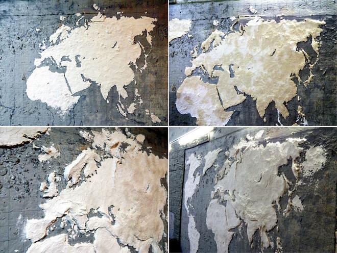 Anh chàng này đã tự làm bản đồ thế giới 3D trên tường chất như nước cất như thế nào? - Ảnh 2.