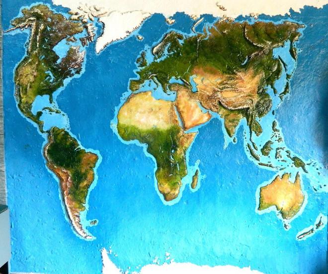 Anh chàng này đã tự làm bản đồ thế giới 3D trên tường chất như nước cất như thế nào? - Ảnh 7.