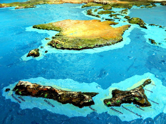 Anh chàng này đã tự làm bản đồ thế giới 3D trên tường chất như nước cất như thế nào? - Ảnh 18.