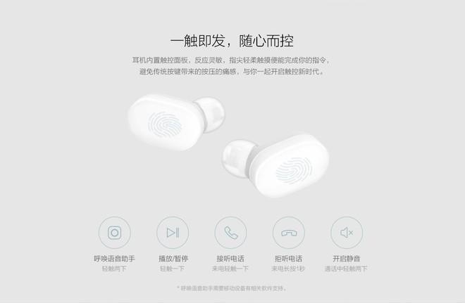 Xiaomi ra mắt tai nghe bluetooth AirDots: True wireless, Bluetooth 5.0, pin 4 tiếng, giá 700.000 đồng - Ảnh 5.