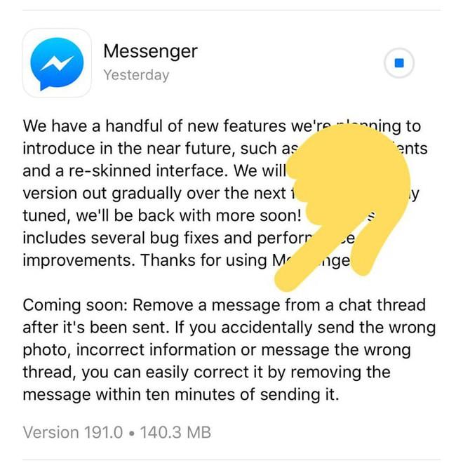 Cứ thoải mái tỏ tình với crush đi, Facebook Messenger sắp cho rút lại tin nhắn đã gửi trong vòng 10 phút - Ảnh 2.