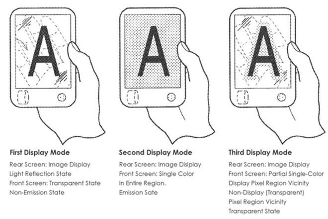 Phát hiện bằng sáng chế điện thoại Sony mới, màn hình gập, cuộn được mà lại trong suốt - Ảnh 1.