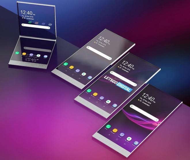 Phát hiện bằng sáng chế điện thoại Sony mới, màn hình gập, cuộn được mà lại trong suốt - Ảnh 2.