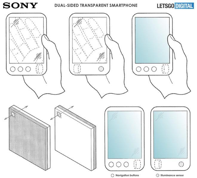Phát hiện bằng sáng chế điện thoại Sony mới, màn hình gập, cuộn được mà lại trong suốt - Ảnh 3.
