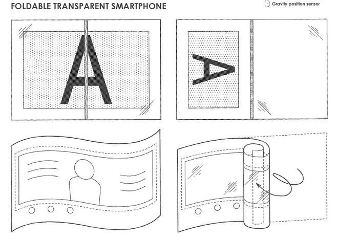 Phát hiện bằng sáng chế điện thoại Sony mới, màn hình gập, cuộn được mà lại trong suốt - Ảnh 4.