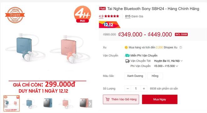 Tai nghe Sony SBH24 bất ngờ giảm giá cả triệu khiến dân tình đổ xô đi mua, thực hư thế nào? - Ảnh 2.