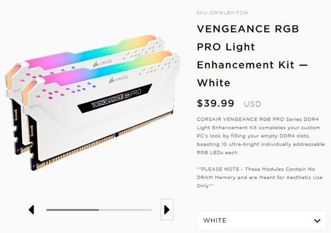Corsair ra mắt mẫu RAM fake với LED RGB giá 40 USD: cắm vào main cho đẹp thôi, không có tác dụng gì cả - Ảnh 2.