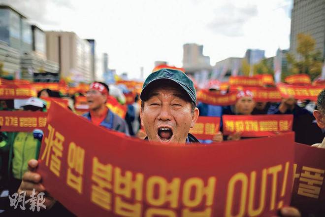 Hàn Quốc: Tài xế taxi truyền thống tự thiêu để phản đối dịch vụ đi chung xe - Ảnh 2.