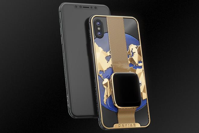 Dung hợp iPhone Xs Max và Apple Watch mạ vàng 24K, thiết bị cầm tay sang chảnh này có giá nửa tỷ đồng - Ảnh 1.