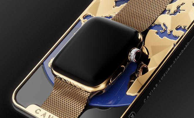 Dung hợp iPhone Xs Max và Apple Watch mạ vàng 24K, thiết bị cầm tay sang chảnh này có giá nửa tỷ đồng - Ảnh 3.