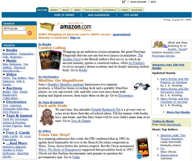 Quay ngược thời gian, xem 12 website nổi tiếng ngày xưa trông ra sao - Ảnh 7.