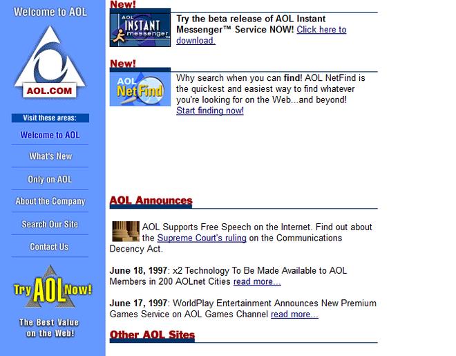 Quay ngược thời gian, xem 12 website nổi tiếng ngày xưa trông ra sao - Ảnh 8.