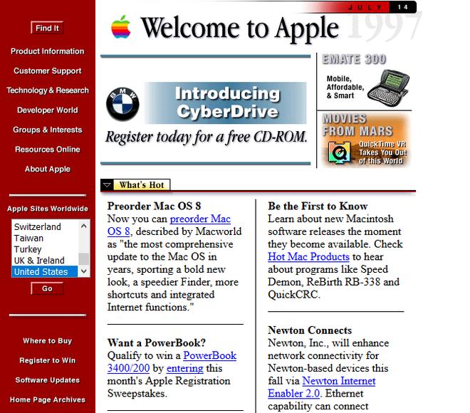Quay ngược thời gian, xem 12 website nổi tiếng ngày xưa trông ra sao - Ảnh 3.