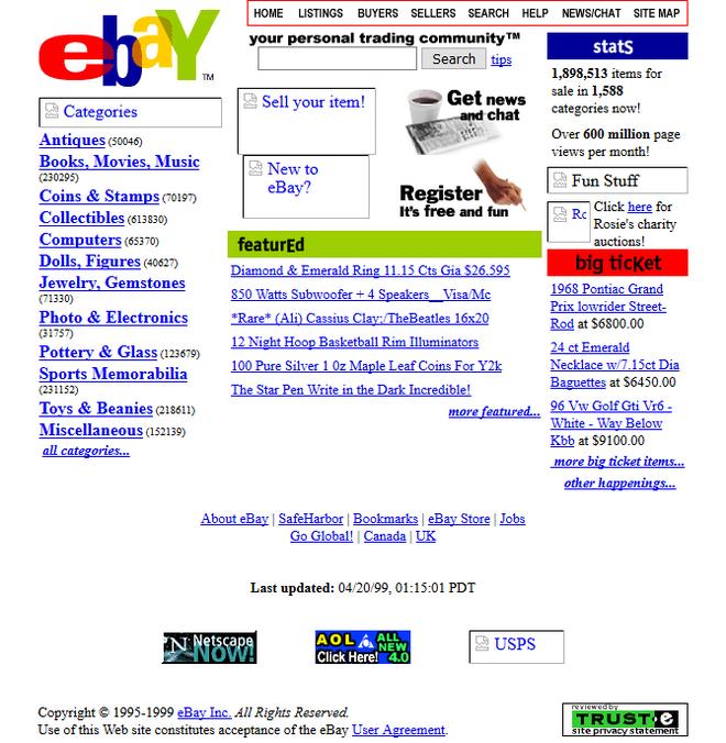 Quay ngược thời gian, xem 12 website nổi tiếng ngày xưa trông ra sao - Ảnh 2.