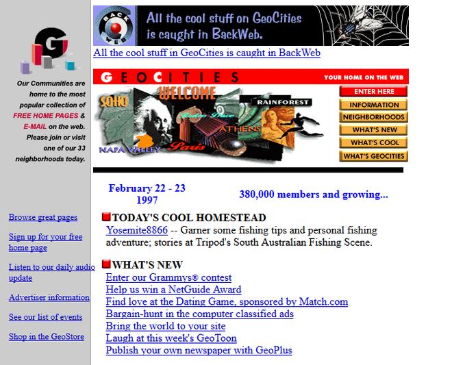 Quay ngược thời gian, xem 12 website nổi tiếng ngày xưa trông ra sao - Ảnh 9.