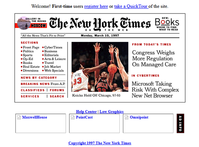 Quay ngược thời gian, xem 12 website nổi tiếng ngày xưa trông ra sao - Ảnh 10.