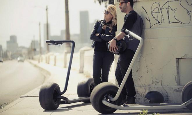 Stator: Mẫu xe điện hai bánh tự cân bằng, lốp to như lốp xe hơi, chỉ có một tay lái, tốc độ tối đa 40km/h - Ảnh 1.