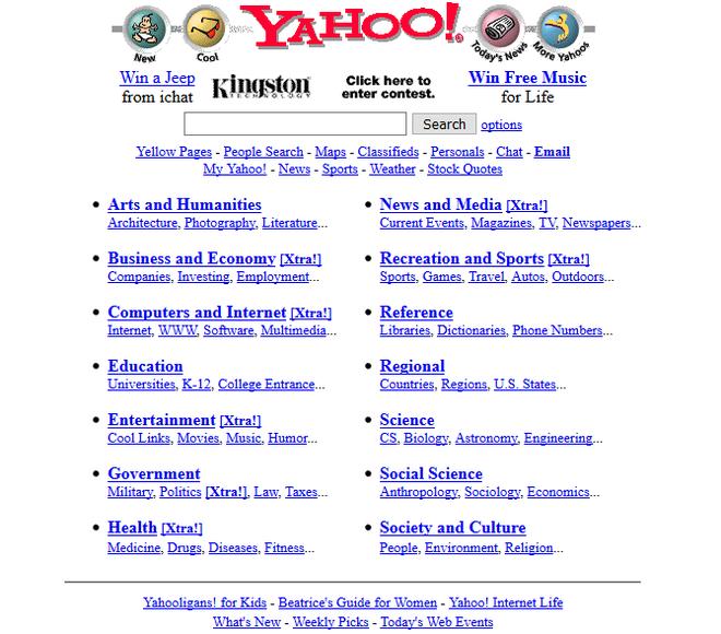 Quay ngược thời gian, xem 12 website nổi tiếng ngày xưa trông ra sao - Ảnh 5.