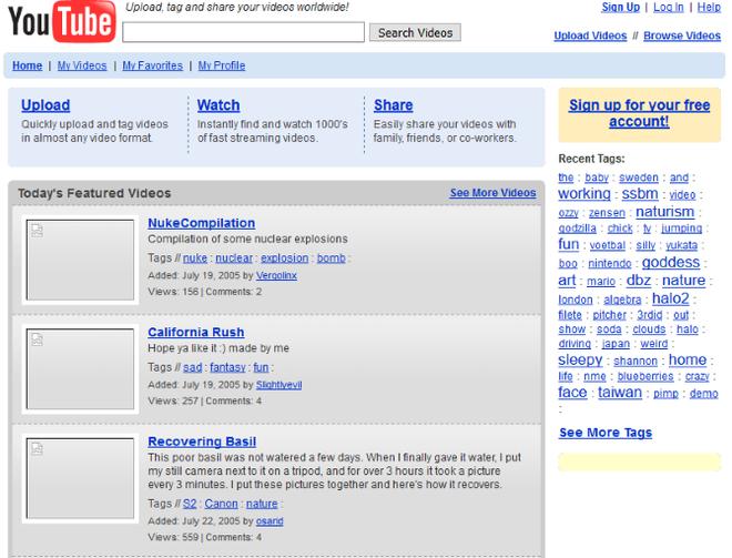 Quay ngược thời gian, xem 12 website nổi tiếng ngày xưa trông ra sao - Ảnh 1.
