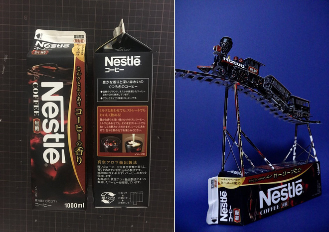 Biến vỏ hộp bánh kẹo thành mô hình tuyệt đẹp, chuyên gia cắt giấy Nhật Bản khiến Internet trầm trồ - Ảnh 7.