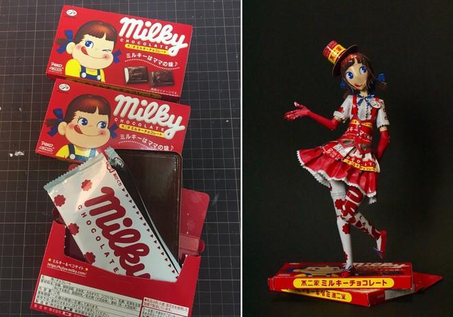Biến vỏ hộp bánh kẹo thành mô hình tuyệt đẹp, chuyên gia cắt giấy Nhật Bản khiến Internet trầm trồ - Ảnh 9.