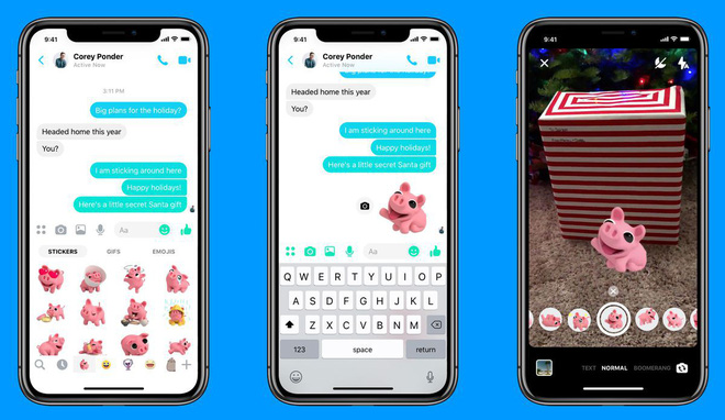 Chán bắt chước đối thủ, Facebook Messenger giờ còn bắt chước cả Portrait Mode của iPhone - Ảnh 2.