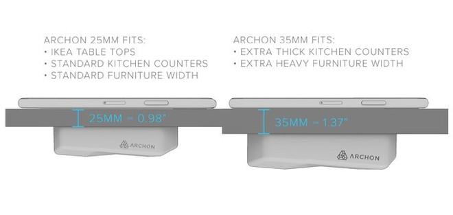 Archon: Sạc không dây đầu tiên sạc xuyên qua mặt bàn, dùng cho cả iPhone và Android, giá từ 1.4 triệu - Ảnh 5.