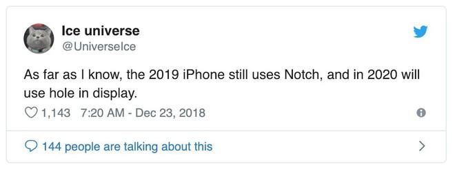 Apple sẽ chưa loại bỏ thiết kế tai thỏ trên iPhone cho đến năm 2020? - Ảnh 1.