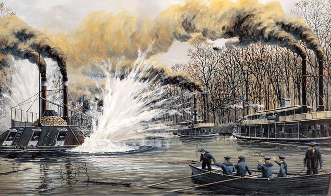 Tàu chiến Mỹ đầu tiên bị đánh đắm bởi một chiếc bình thủy tinh 19 lít - Ảnh 1.