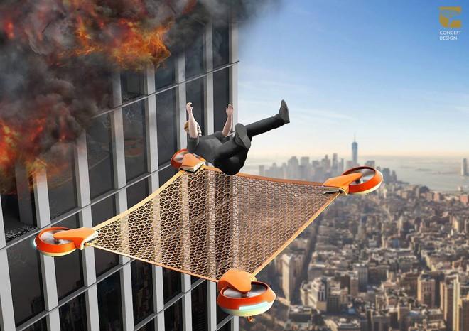 Lưới cứu nạn không người lái Net Guard - drone - giải pháp cho những sự cố hỏa hoạn trên cao - Ảnh 3.