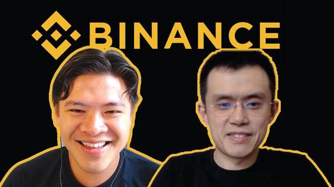 CEO Binance Changpeng Zhao (bên phải)