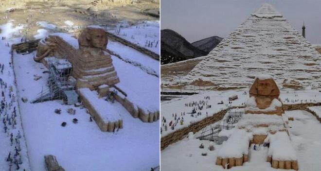 Bức ảnh này có lẽ sẽ là thật, nếu như tượng Nhân Sư được dời tới Pháp, hoặc tháp Effeil bị kéo đến Cairo.