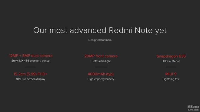 Xiaomi ra mắt Redmi Note 5 Pro: Snapdragon 636, camera kép dọc như iPhone X - Ảnh 4.