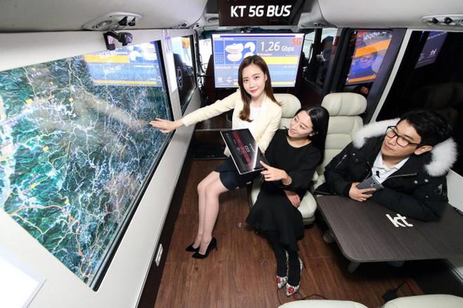 Chiếc xe buýt tự lái trang bị công nghệ mạng 5G tại Thế vận hội mùa đông PyeongChang 2018