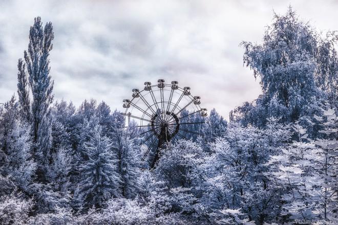 Đu quay biểu tượng cao 26 m tại công viên giải trí Pripyat.