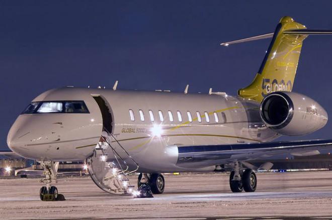 Chiếc phi cơ riêng Bombardier BD-700 Global Express.
