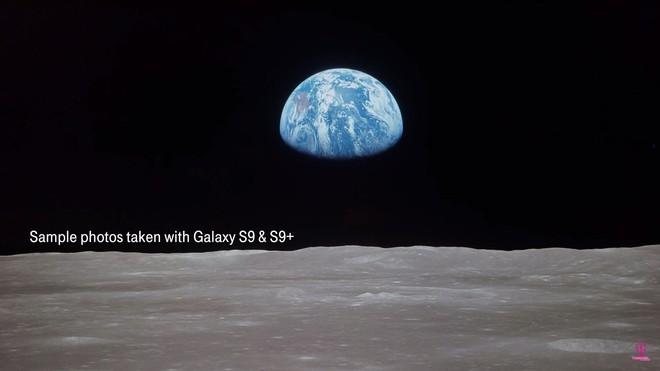Hình ảnh chụp bằng Galaxy S9 từ... mặt trăng