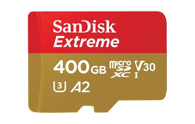 SanDisk ra mắt thẻ nhớ microSD dung lượng 400 GB với tốc độ nhanh nhất thế giới - Ảnh 1.