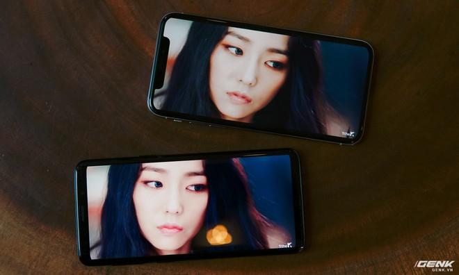 Cả hai đều dùng màn hình OLED/AMOLED của Samsung Display nhưng có cách cân màu rất khác nhau. Trong khi iPhone X thiên về các tông màu ấm nóng, nhạt hơn thì Galaxy S9 luôn tạo cảm giác rực rỡ, bắt mắt hơn.