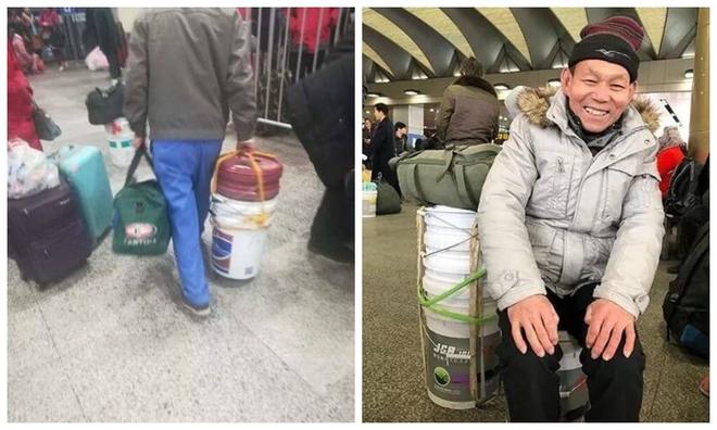 Dùng thùng sơn thay vali: Xu hướng hot nhất mùa Xuân vận 2018 tại Trung Quốc - Ảnh 1.