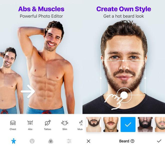 Ứng dụng thần kỳ này giúp phái mạnh có cơ bụng 6 múi, râu ria nam tính và nhiều hơn thế nữa - Ảnh 5.