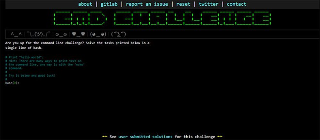 """Thử kiểm tra kiến thức lập trình và khả năng """"múa code"""" với công cụ trực tuyến CMD Challenge - Ảnh 1."""