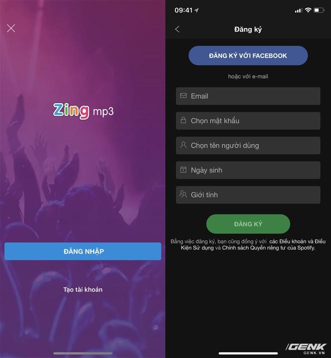 Người dùng sẽ buộc phải có tài khoản Zalo để đăng nhập vào Zing MP3