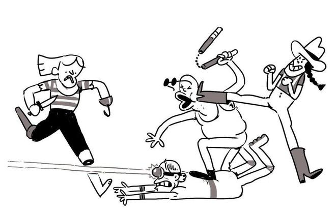 Họa sĩ thử thách chính mình bằng cách mỗi ngày vẽ thêm một nhân vật vào trận hỗn chiến, khi nào ảnh to quá không upload được lên Twitter mới thôi - Ảnh 5.