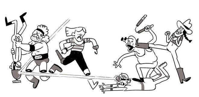 Họa sĩ thử thách chính mình bằng cách mỗi ngày vẽ thêm một nhân vật vào trận hỗn chiến, khi nào ảnh to quá không upload được lên Twitter mới thôi - Ảnh 7.